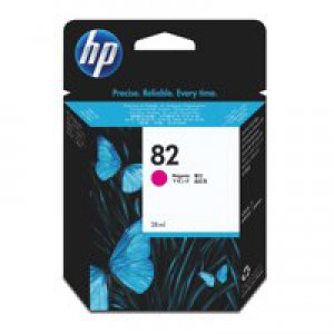 Hewlett Packard No82 Inkjet Cartridge Magenta 28ml CH567A