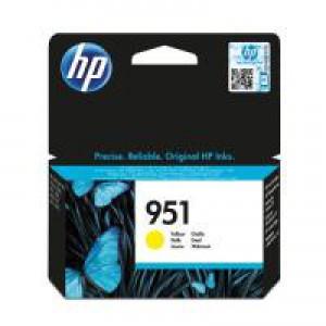 HP 951 Original Inkjet Cartridge Yellow CN052AE Pk1 CN052AE
