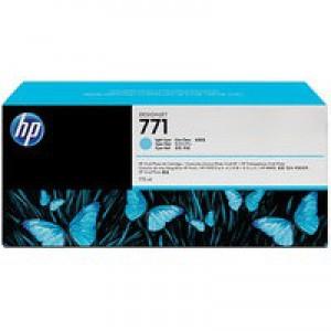 Hewlett Packard No771 Design Jet Inkjet Cartridge 775ml Pack of 3 Light Cyan CR255A