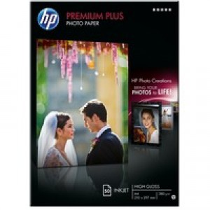 Hewlett Packard Photo Paper 300gsm Glossy A4 Pack of 50 CR674A