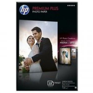 Hewlett Packard Photo Paper 300gsm Glossy 100x150mm Pack of 25 CR677A