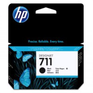 HP711 Blk Ink Cartridge 38ml CZ129A Pk1