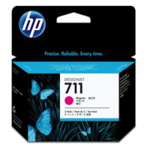 HP711 Mag Ink Cart 3-Pk 29ml CZ135A Pk1