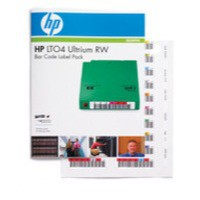 Hewlett Packard Ultrium LTO4 Data Cartridge Bar Code Label Pack Q2009A