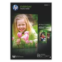 Hewlett Packard Everyday Photo Paper Gloss A4 200gsm White Pack of 100 Q2510A