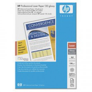 Hewlett Packard Professional Gloss Laser Paper 130gsm A4 Pack of 250 Q2552A