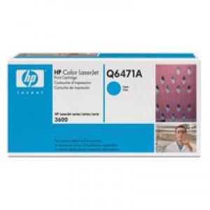 Hewlett Packard No502A LaserJet Toner Cartridge Cyan Q6471A