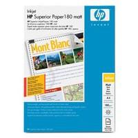 Hewlett Packard Superior Inkjet Paper Matt 180gsm A4 Pack of 100 Q6592A