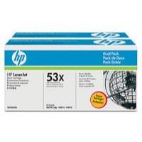 Hewlett Packard No53X LaserJet Toner Cartridge Black Twin Pack Q7553XD
