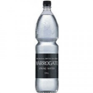 Harrogate Spring Bottled Water Still 1.5 Litre PET Black Label/Cap Pack of 12