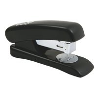 Rapesco Eco Stapler Recycled ABS Casing Half Strip No.s 24/6 26/6 Black Ref 1084