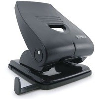 Rapesco 835-P Heavy Duty 2-Hole Punch Metal Black