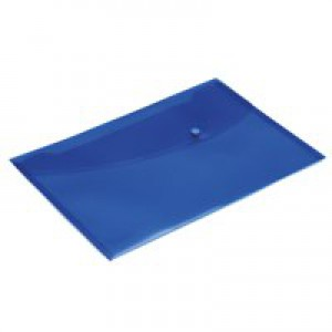 Rapesco Popper Wallet Foolscap Bright Blue Pack of 5 0687