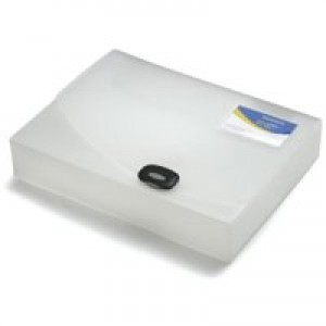 Rapesco A4+ Rigid Wallet/Box File 60mm Clear 0714