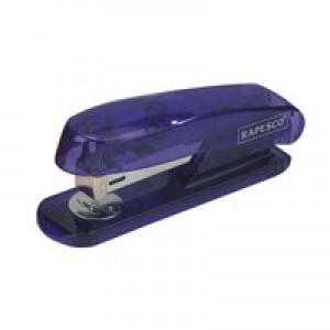 Rapesco Puffa See Through Stapler Half Strip Purple
