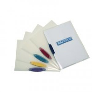 Rapesco Pivot Clip File A4 Pk 5 Assorted 0786