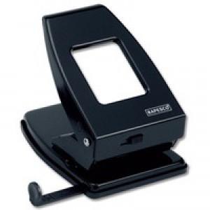 Rapesco 835 Heavy Duty 2-Hole Perforator Black