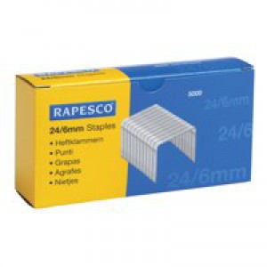 Rapesco Staples 6mm 24/6 Pack of 5000