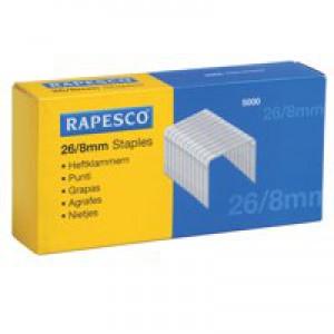 Rapesco Staples 8mm 26/8 Pack of 5000
