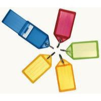 Key Hanger Sliding with Fob Label Area 40x28mm Tag Size Medium 57x30mm Assorted [Pack 50]