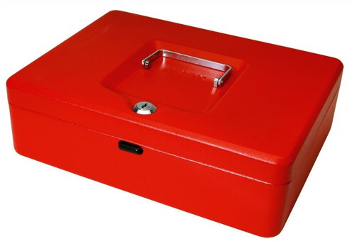 Helix Value Cash Box 12 inch Red WN9060