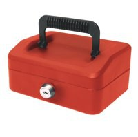 Helix 150mm Sloping Lid Cash Box Red WA6060