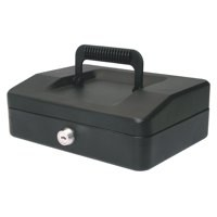 Helix 200mm Sloping Lid Cash Box Black WA7010
