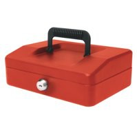 Helix 200mm Sloping Lid Cash Box Red WA7060