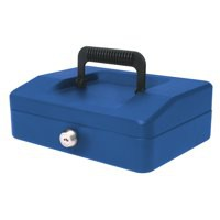 Helix 200mm Sloping Lid Cash Box Blue WA7080
