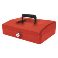 Helix 250mm Sloping Lid Cash Box Red WA8060