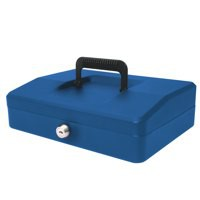 Helix 250mm Sloping Lid Cash Box Blue WA8080