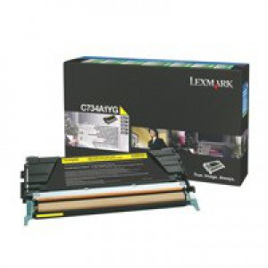 Lexmark C734DN Return Programme Toner Cartridge 6K Yellow C734A1YG