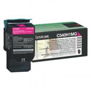 Lexmark Laser Toner Cartridge Page Life 2000pp Magenta Ref C540H1MG