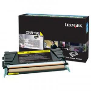 Lexmark C748 Return Programme Toner Cartridge High Yield Yellow C748H1YG