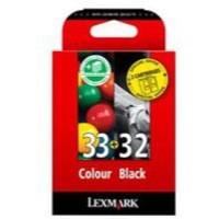 Lexmark No32/No33 Inkjet Cartridge Combo Pk Black/Colour 80D2951