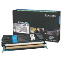Lexmark C522N/C524 Return Programme Toner Cartridge Cyan C5220CS