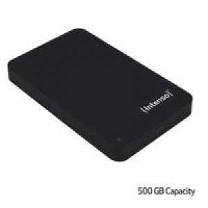 Intenso Black Memory Station USB 3.0 Portable Hard Drive 500GB 6021530