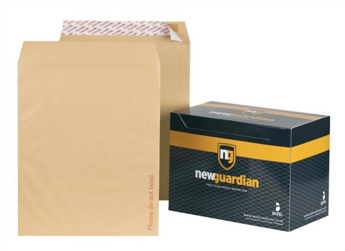 New Guardian Envelopes Heavyweight Board-backed Peel and Seal Manilla 394x318mm [Pack 50]