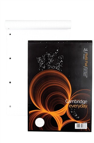 Cambridge Refill Pad Headbound Squared 5mm Punched 4 Holes 70gsm 160pp A4 Ref 100080199 [Pack 5]