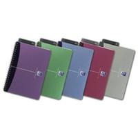 Oxford Office Notebook A5+ Soft Polypropylene Cover Assorted Ruled Feint Pack of 5 100101300