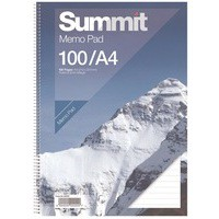 Summit Memo Pad Ruled Feint A4 80 Leaf 846200201
