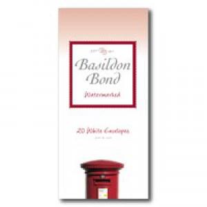Basildon Bond Envelope Medium White Pack of 20 100080068