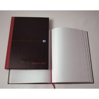 Image for Black n Red Casebound Manuscript Book 192 Pages A5 Single Cash B66853