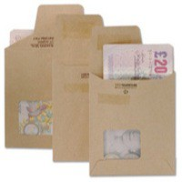 New Guardian Wage Envelope 121x98mm Window Unprinted 125gsm Manilla Self-Seal Pack 1000 C20719