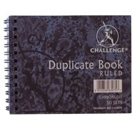 Challenge Carbonless Duplicate Book 105x130mm Ruled Feint 100080427