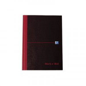 Black n Red Casebound Manuscript Book 192 Pages A6 Ruled Feint 100080429