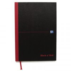 Black n Red Casebound Manuscript Book 192 Pages A4 Indexed 100080432