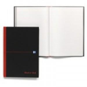 Black n' Red Casebound Notebook A4 Feint 100080446