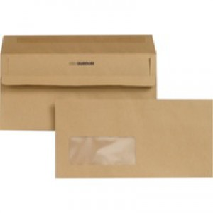New Guardian Envelope DL Window 80gsm Manilla Self-Seal Pack of 1000 E22211