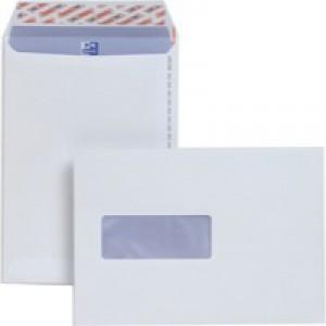 Plus Fabric Envelope C5 Window White Prestige 110gsm Pocket Peel and Seal Pack of 500 E24970